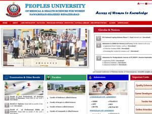 Peoples University of Medical and Health Sciences for Women Screenshot