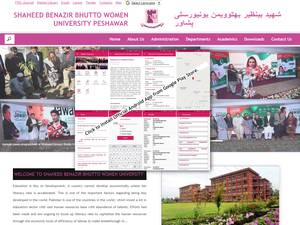 Shaheed Benazir Bhutto Women University's Website Screenshot