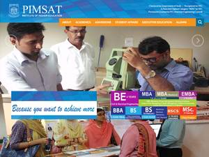 PIMSAT Institute of Higher Education Screenshot