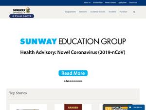 Sunway University's Website Screenshot
