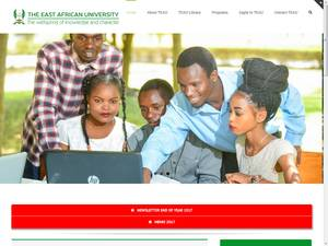 The East African University's Website Screenshot
