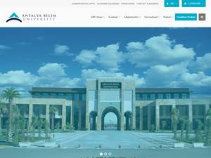 Antalya Bilim Universitesi's Website Screenshot