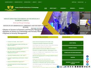 Dedan Kimathi University of Technology's Website Screenshot