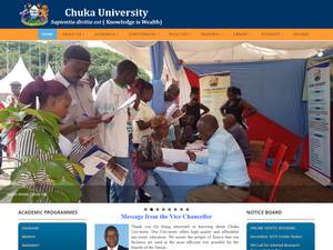 Chuka University's Website Screenshot