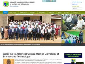 Jaramogi Oginga Odinga University of Science and Technology's Website Screenshot