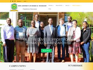Meru University of Science and Technology's Website Screenshot