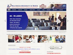 Multimedia University of Kenya's Website Screenshot