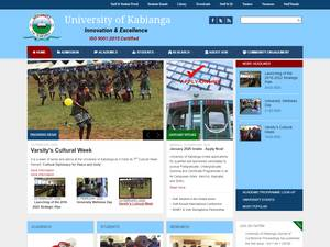 University of Kabianga's Website Screenshot