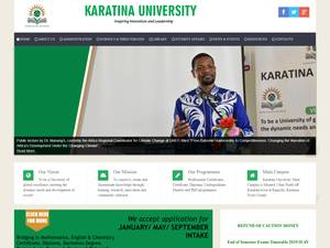 Karatina University's Website Screenshot