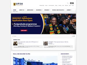 University of Professional Studies Accra's Website Screenshot