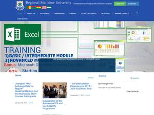 Regional Maritime University's Website Screenshot