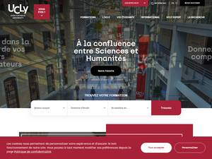 Université Catholique de Lyon's Website Screenshot