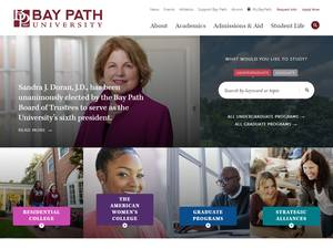 Bay Path University's Website Screenshot