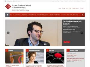 Boston Graduate School of Psychoanalysis's Website Screenshot