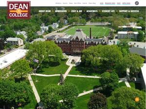 Dean College's Website Screenshot