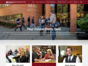 Massachusetts School of Law's Website Screenshot