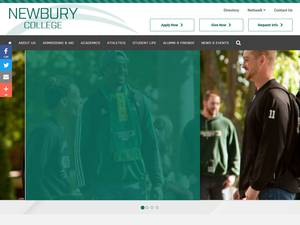 Newbury College's Website Screenshot