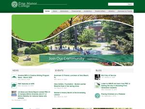Pine Manor College's Website Screenshot