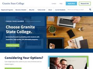 Granite State College's Website Screenshot