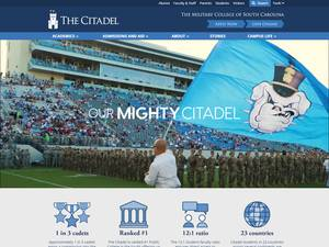 The Citadel, The Military College of South Carolina's Website Screenshot