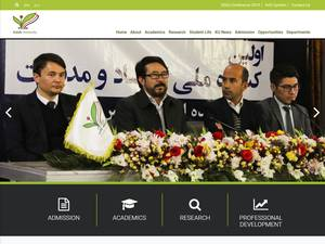 Kateb University's Website Screenshot