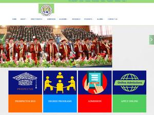 Bakhtar University's Website Screenshot