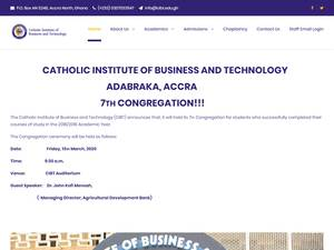 Catholic Institute of Business and Technology's Website Screenshot
