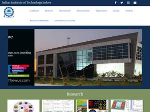 Indian Institute of Technology Indore's Website Screenshot