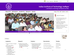 Indian Institute of Technology Jodhpur's Website Screenshot