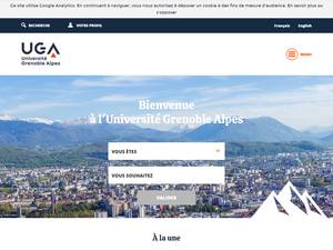 Université Grenoble Alpes Screenshot