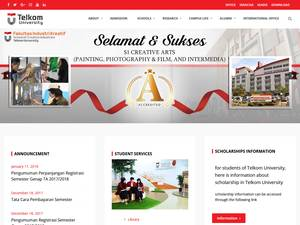 Telkom University's Website Screenshot