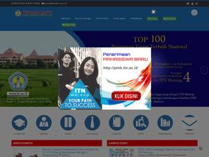 Institut Teknologi Nasional Malang's Website Screenshot