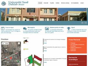 Université Saad Dahlab de Blida's Website Screenshot