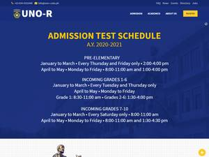 University of Negros Occidental - Recoletos's Website Screenshot