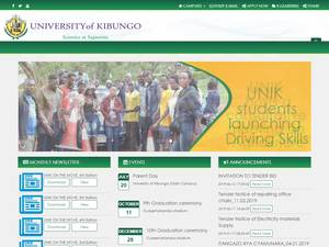 University of Kibungo's Website Screenshot