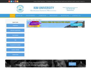 KIM University's Website Screenshot