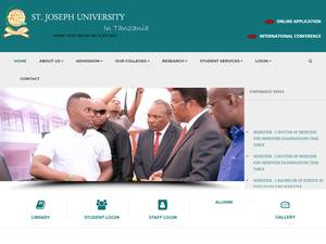 St. Joseph University in Tanzania's Website Screenshot
