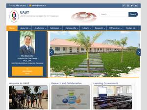 United African University of Tanzania's Website Screenshot