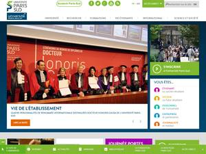 Université Paris Sud - Paris 11's Website Screenshot