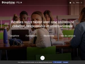 Université Paris Dauphine's Website Screenshot