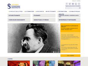 Sorbonne Université's Website Screenshot