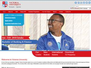 Victoria University, Kampala's Website Screenshot