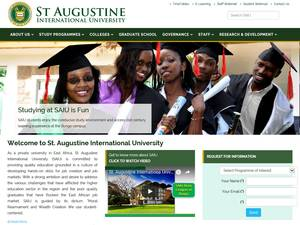 St. Augustine International University's Website Screenshot
