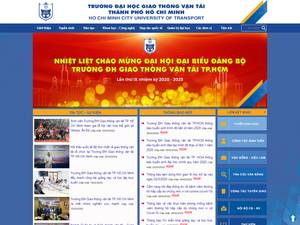 Ho Chi Minh City University of Transport's Website Screenshot