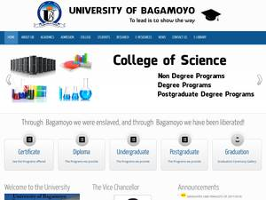 University of Bagamoyo's Website Screenshot