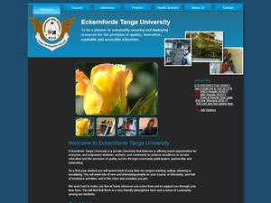 Eckernforde Tanga University's Website Screenshot