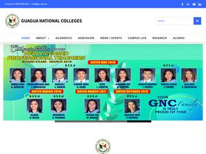 Guagua National Colleges's Website Screenshot