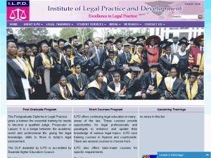 Institute of Legal Practice and Development Screenshot