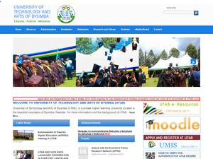 University of Technology and Arts of Byumba's Website Screenshot