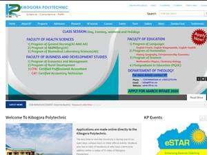 Kibogora Polytechnic's Website Screenshot